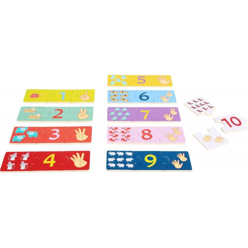 puzzle invata sa numeri