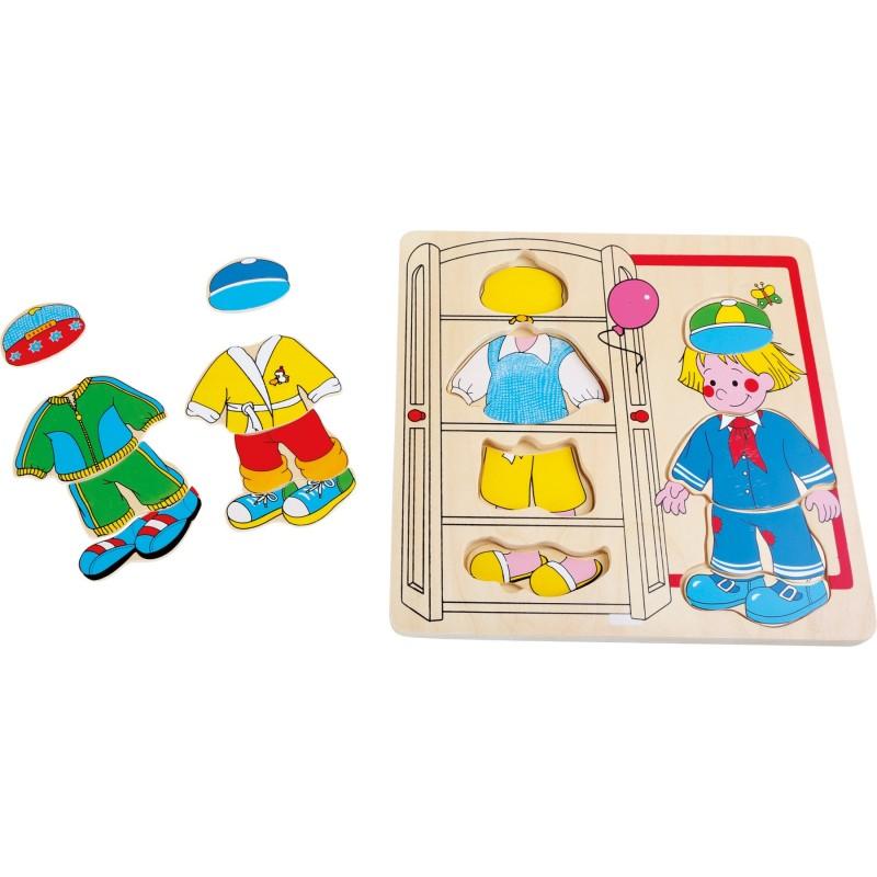 puzzle imbraca baiatul