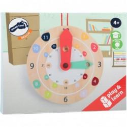 ceas de peretejucarie educativa din lemn