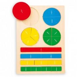 puzzle de invatare a fractiilor