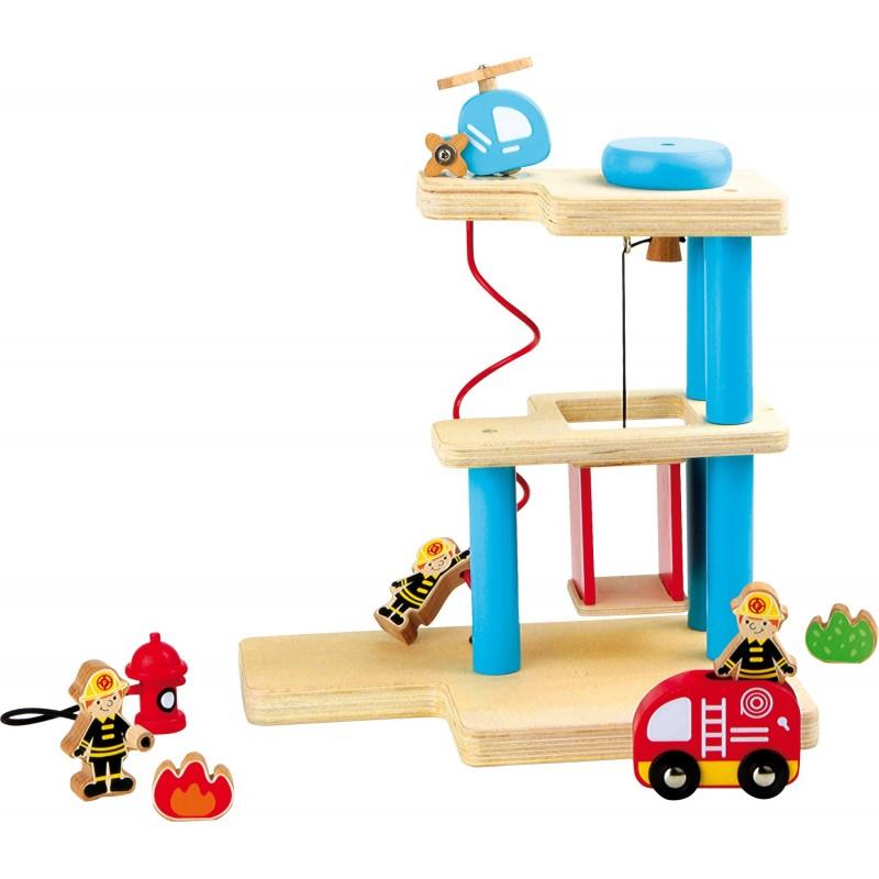 statie de pompieri si accesorii din lemn