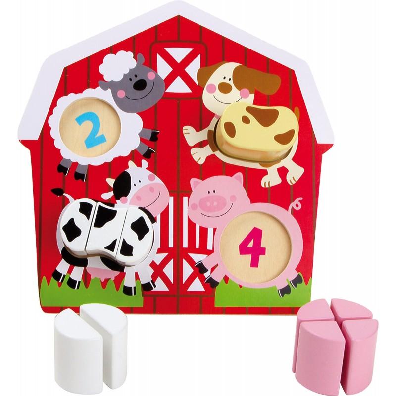 puzzle animalele de la ferma