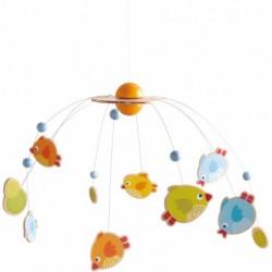 carusel cu pasari pentru bebelusi