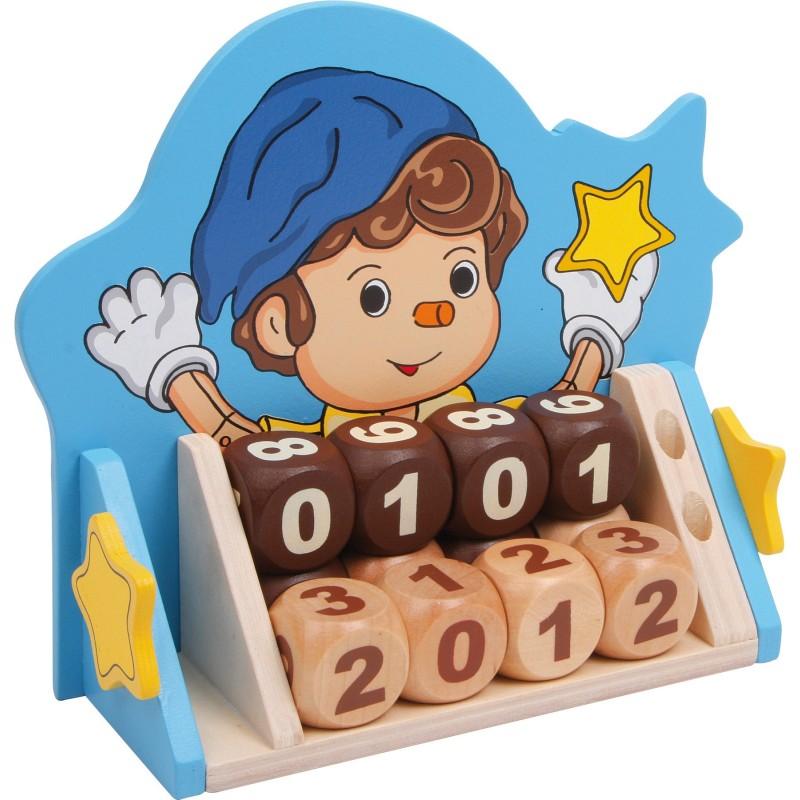 calendar din lemn pino