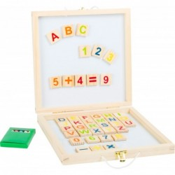 tabla magnetica din lemn cu litere si cifre