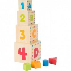 cuburi de stivuit cu litere si cifre