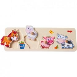 animalele din fermapuzzle din lemn