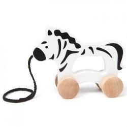 Zebra plimbareata din lemn