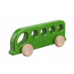 Autobuz de lemn verde