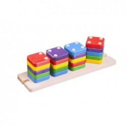 jucarie de sortat din lemn domino