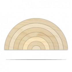 jucarie din lemn natur curcubeu