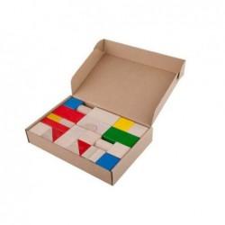 cuburi de lemn colorate 30 piese