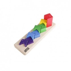 piramida zig-zag din lemn