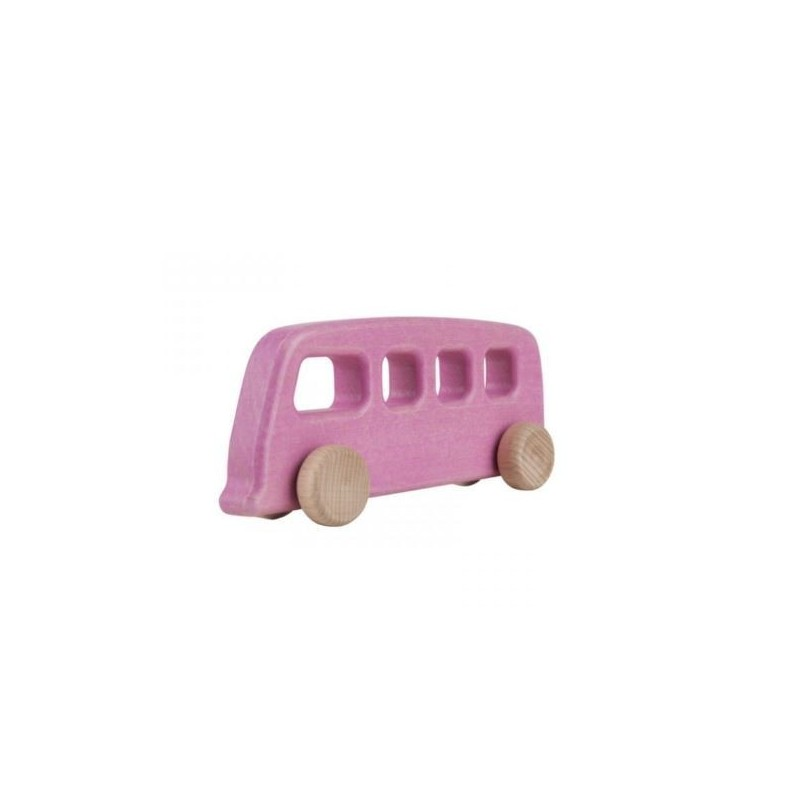 autobuz vintage roz