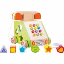telefon din lemn pentru dezvoltarea abilitatilor motrice