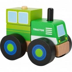 tractor din blocuri de lemn