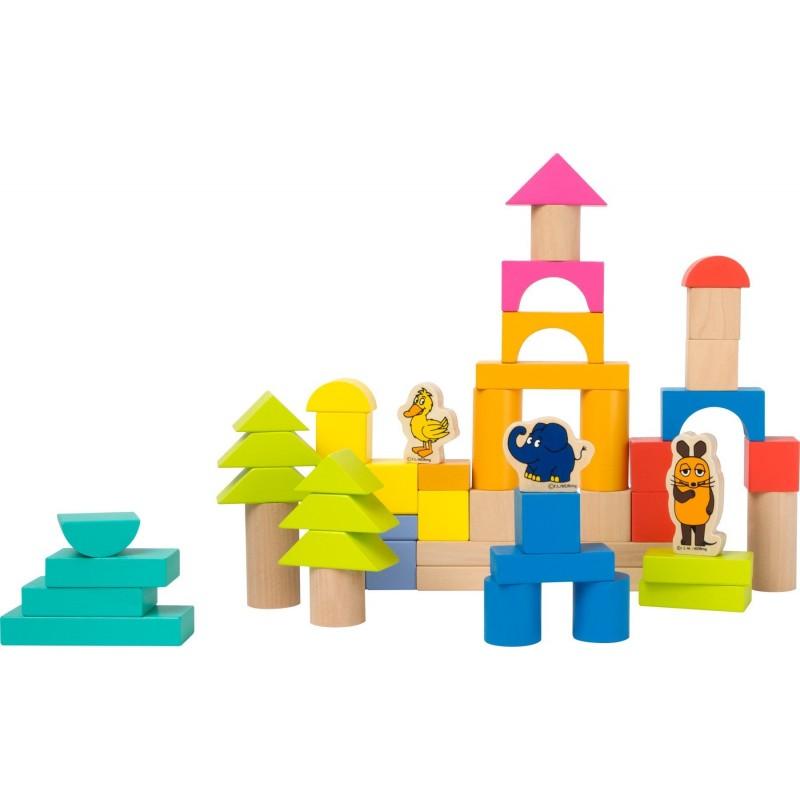 blocuri de construit din lemn cu elefantul die maus