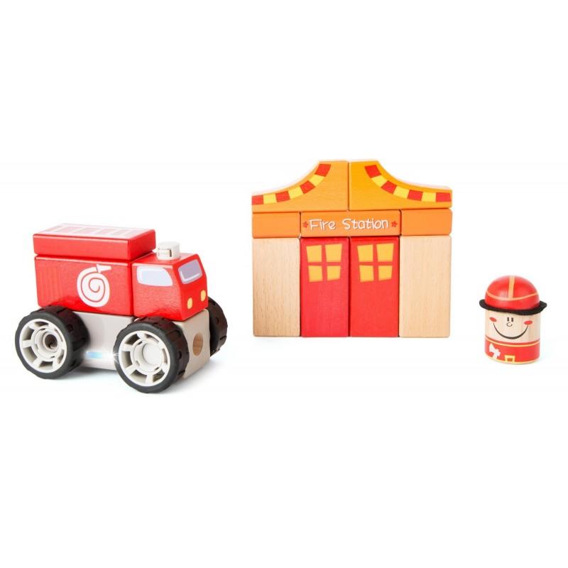 pompierii din lemn cu sunete