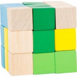 cub elastic de construit albastru-verde