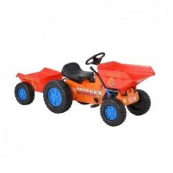 tractor cu pedale si remorca pentru copii hecht