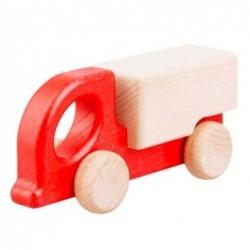 camion din lemn zuk rosu