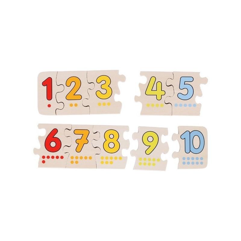 puzzle cu numere 10 piese