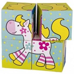 puzzle 4 cuburi susibelle si prietenii