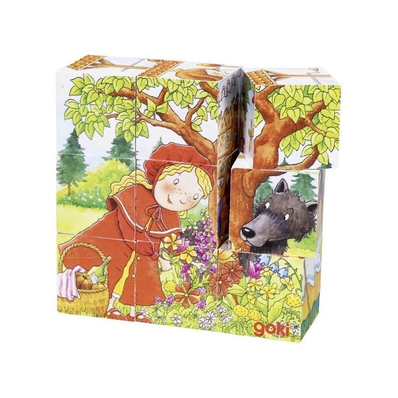 puzzle cu povesti 9 cuburi