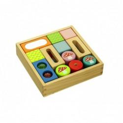 set cuburi senzoriale din lemn