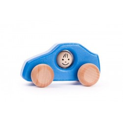 masinuta albastra din lemn