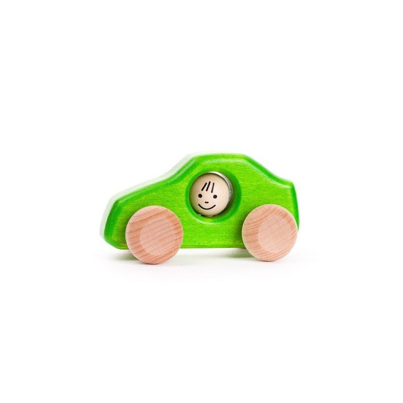 masinuta verde din lemn