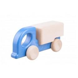 camion din lemn zuk albastru