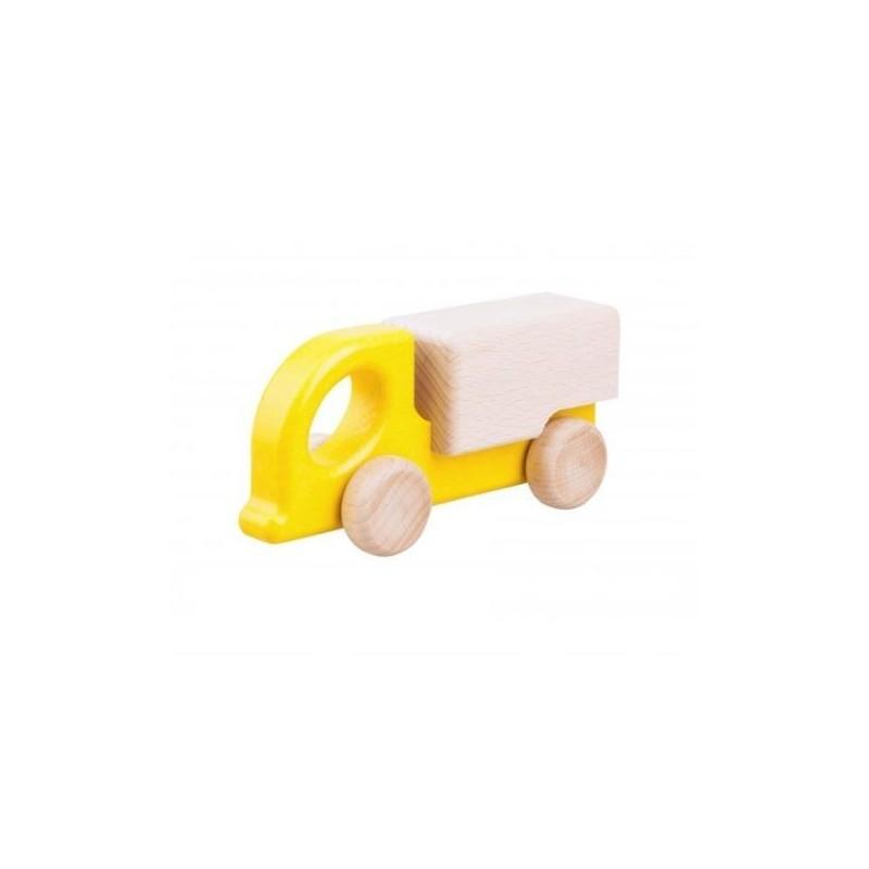 camion din lemn zuk galben