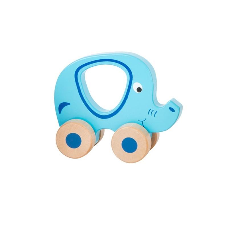 elefantul albastru pe roti