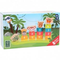 puzzle cuburi pui de animale