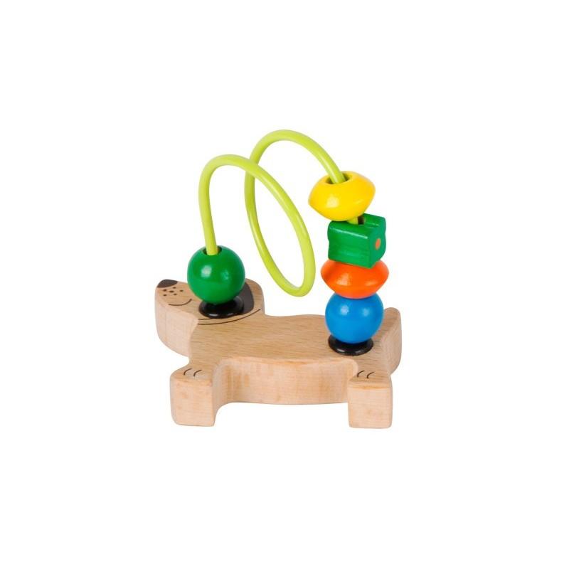 circuit cu bile din lemn catel