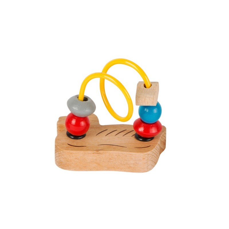 circuit cu bile din lemn ratusca