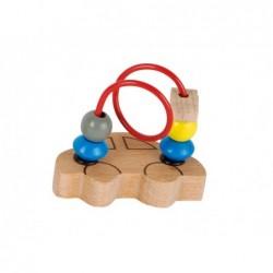 circuit cu bile din lemn masinuta